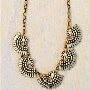 LESLIE DANZIS gold crystal bib necklace 💎